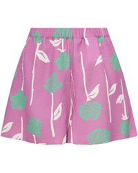 Opening Ceremony Printed Shorts - Purple