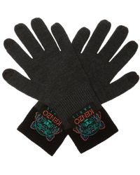 KENZO Logo Gloves - Gray