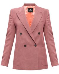 PS by Paul Smith Double-breasted Blazer - Pink