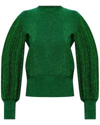 MSGM Puff Sleeve Jumper Green