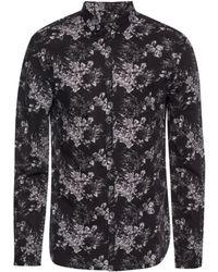 John Varvatos Floral-printed Shirt - Black
