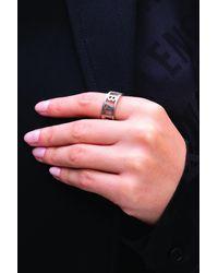 Balenciaga Logo Ring Silver - Metallic
