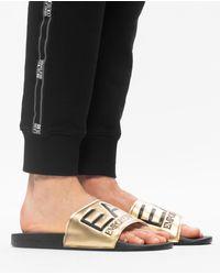 EA7 Branded Slides - Metallic