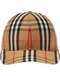Burberry Checked Baseball Cap - Multicolour