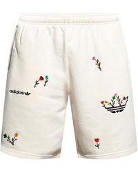 adidas Originals Shorts With Logo - Natural