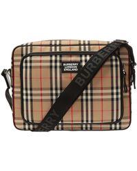 Burberry Branded Shoulder Bag - Natural