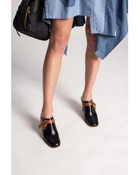 Loewe Leather Mules - Black
