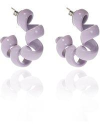 Bottega Veneta Enameled Silver Earrings - Metallic