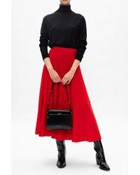 Marni Wool Poncho Red