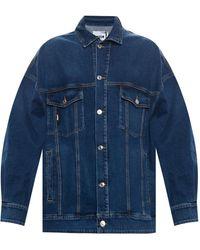MSGM - Denim Jacket Blue - Lyst