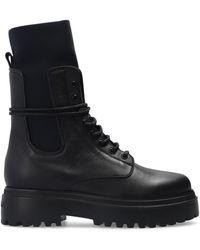 Le Silla 'ranger' Platform Ankle Boots Black