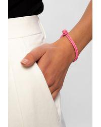 Bottega Veneta Leather Bracelet - Pink