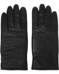 AllSaints 'yield' Leather Gloves - Black