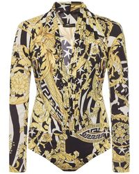 Versace - Patterned Body With Long Sleeves - Lyst