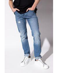 Philipp Plein Jeans With Logo - Blue