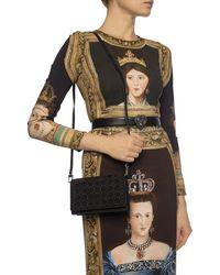 Alaïa Shoulder Bag Studded With Studs Black