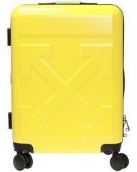 Off-White c/o Virgil Abloh Logo Suitcase - Yellow