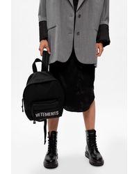 Vetements Logo Backpack Black