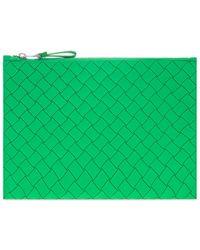 Bottega Veneta Rubber Clutch - Green