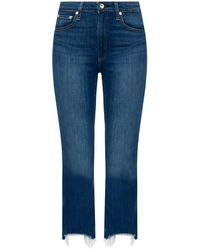 Rag & Bone Nina High-rise Flare - Crossfield Slim Fit Ankle Mid Indigo Jean - Blue