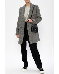 Zadig & Voltaire Coat With Notched Lapels - Black
