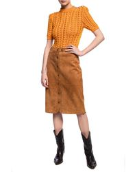 COACH Suede Skirt - Brown