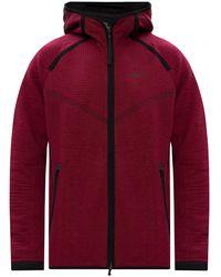 Nike - Hoodie With Zip Burgundy - Lyst