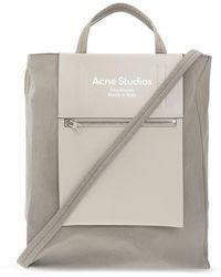 Acne Studios 'baker Out Medium' Shoulder Bag - Grey