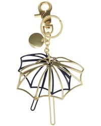 See By Chloé Keyring With Charm Gold - Metallic