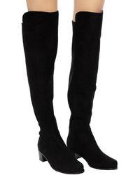 Stuart Weitzman - 'reserve' Heeled Over-the-knee Boots Black - Lyst