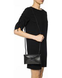 Alaïa Openwork Pattern Shoulder Bag Black