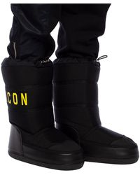 DSquared² - Branded Moon Boots Black - Lyst