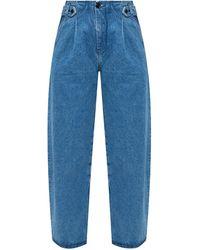 Samsøe & Samsøe High-waisted Jeans - Blue
