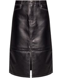 PROENZA SCHOULER WHITE LABEL Leather Skirt - Black