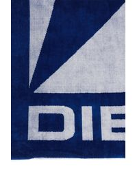 DIESEL Towel With Logo - White