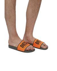 DIESEL 'sa-valla' Rubber Slides Orange