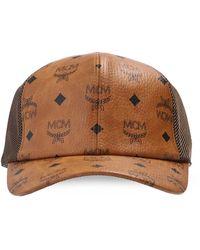 MCM Branded Baseball Cap - Brown