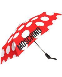 Moschino Logo-printed Umbrella - Red