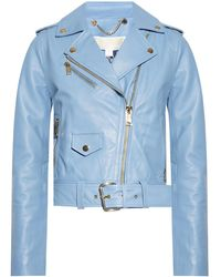 MICHAEL Michael Kors Biker Jacket - Blue