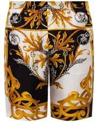 Versace - Barocco-printed Shorts Multicolour - Lyst