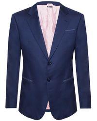 Giorgio Armani Mini-check Suit - Blue