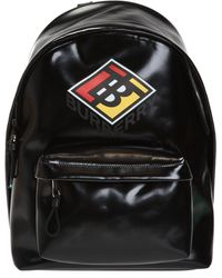 Burberry Backpack With Logo - Black