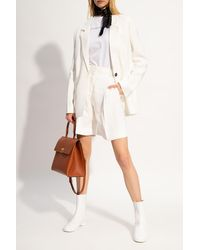 Victoria, Victoria Beckham Shorts With Darts - White