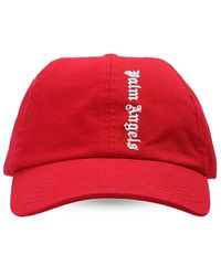 Palm Angels Baseball Cap Unisex Red