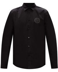 Versace Jeans Couture Shirt With Logo - Black