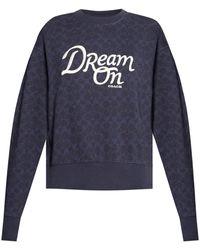 COACH Branded Sweatshirt Navy Blue