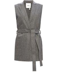 Agnona Mohair Vest - Grey