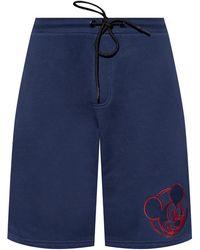 Iceberg Shorts With Logo Navy Blue