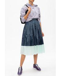 adidas Originals Pleated Skirt With Logo Navy Blue
