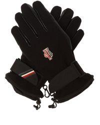 3 MONCLER GRENOBLE Logo-appliqued Gloves - Black
